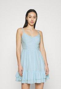 Hollister Co. - BARE SHORT DRESS  - Kjole - light blue - 0