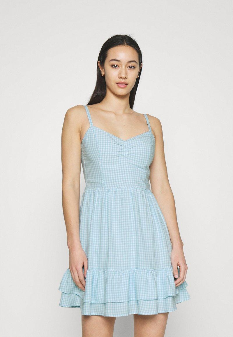 Hollister Co. - BARE SHORT DRESS  - Kjole - light blue