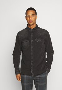 AllSaints - BASSETT SHIRT - Shirt - washed black - 0