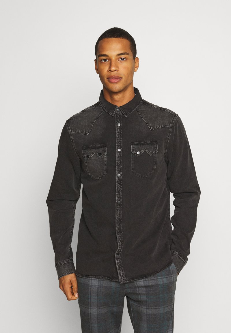 AllSaints - BASSETT SHIRT - Shirt - washed black