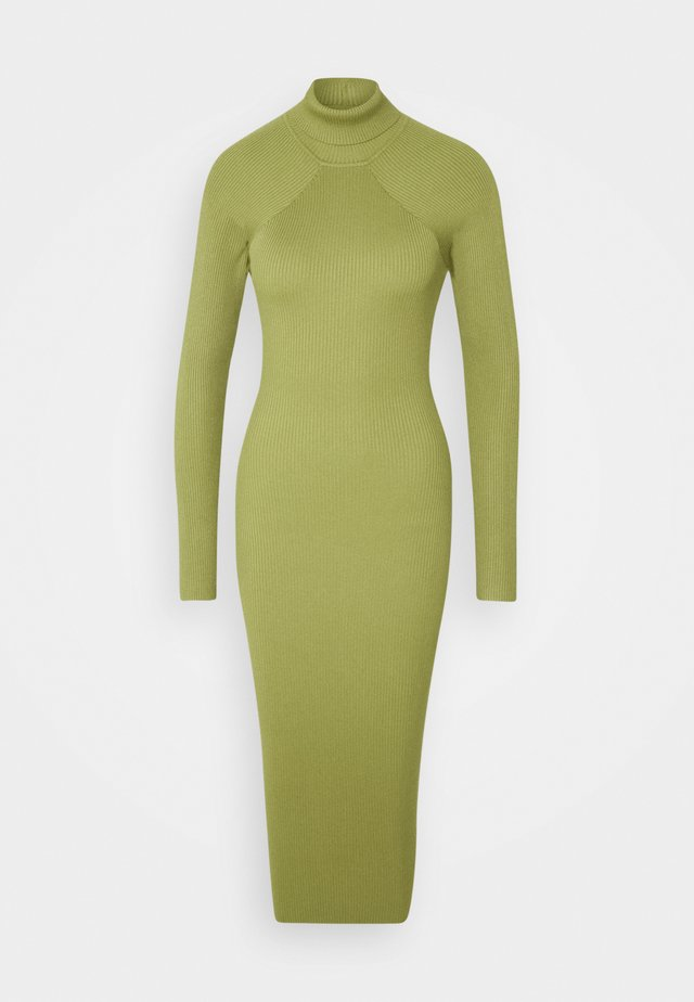 CUT OUT BACK MIDAXI DRESS - Tubino - green