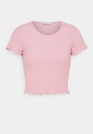 ONLEMMA SHORT - Print T-shirt - soft pink melange