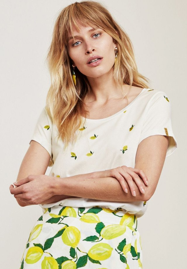 KRIS LIME  - T-shirt print - cream white