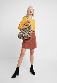 Louche - NEOLA - A-line skirt - dark peach - 1