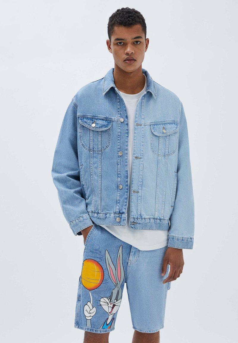 PULL&BEAR - SPACE JAM - Denim jacket - blue