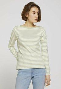 pine green white stripe