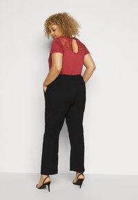 Kaffe Curve - META PANTS - Trousers - black deep - 2
