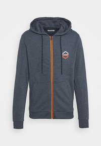 Jack & Jones - JJDELIGHT ZIP HOOD - Bluza rozpinana - navy blazer melange - 4