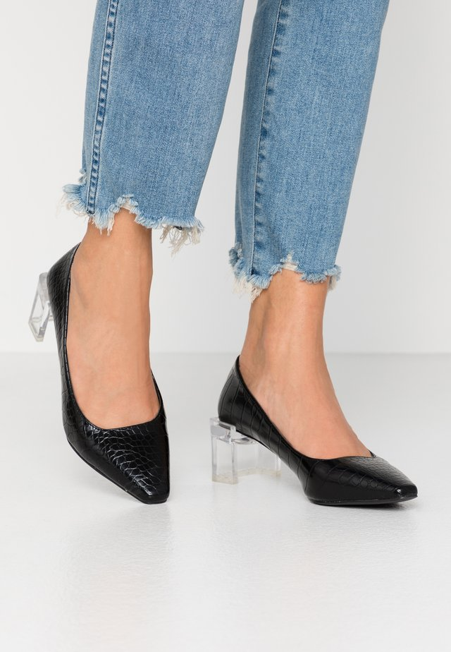 PERSPEX MID HEEL SHOE - Decolleté - black