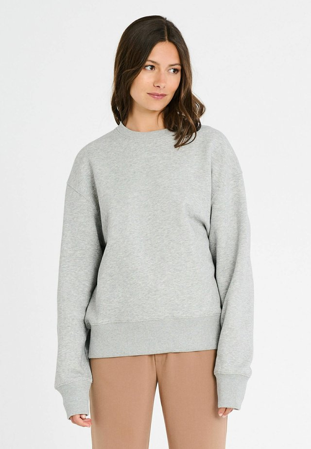 Sweatshirt - melange grey