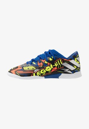 NEMEZIZ MESSI 19.3 - Indoor football boots - royal blue/silver metallic/solar yellow