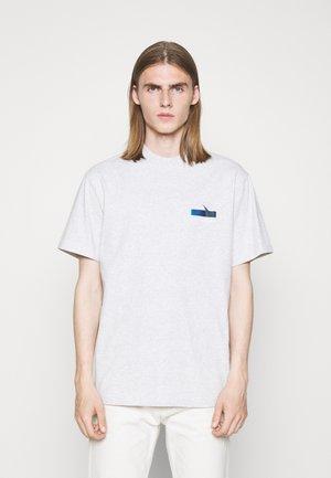 BOXY TEE - T-shirt print - grey melange