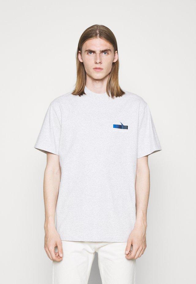 BOXY TEE - T-shirt imprimé - grey melange