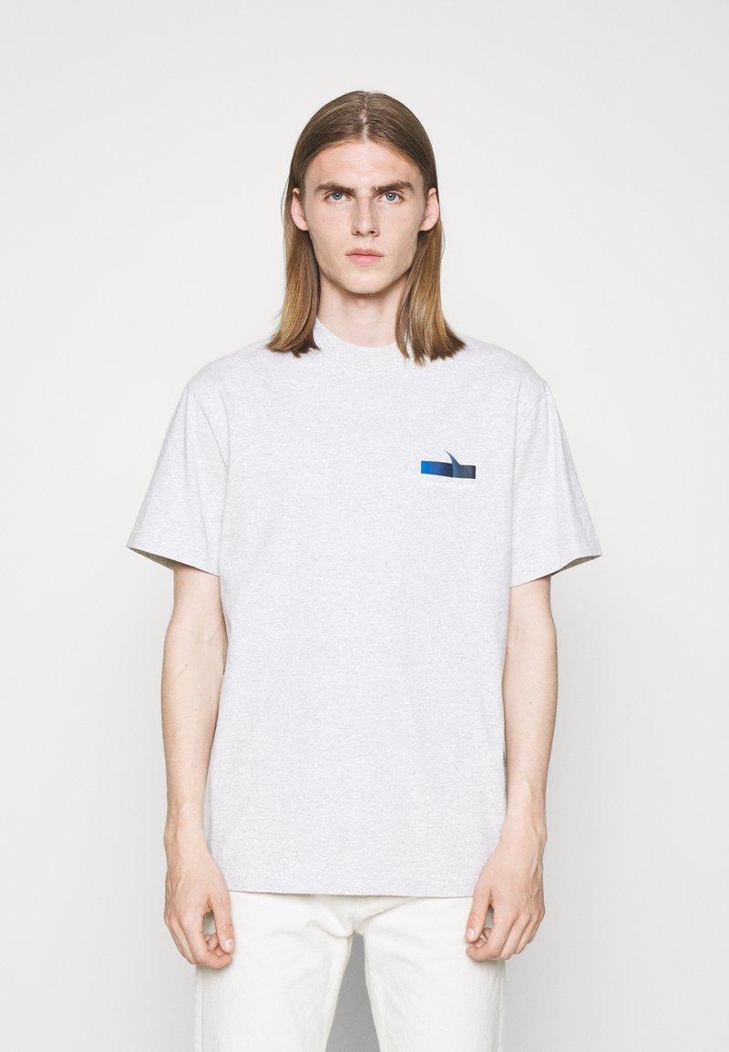 Han Kjøbenhavn - BOXY TEE - Print T-shirt - grey melange