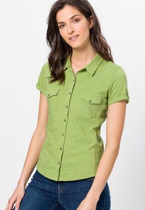 Button-down blouse - grass green
