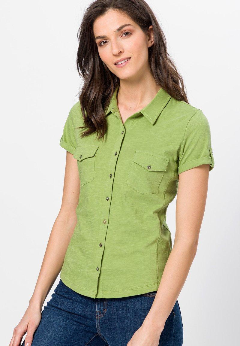 zero - Button-down blouse - grass green