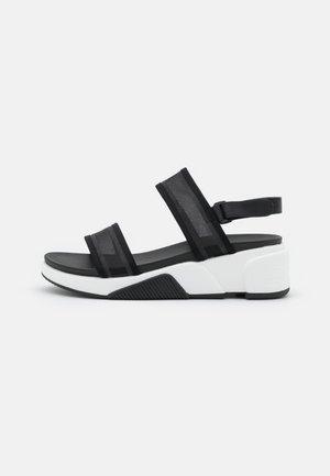 ETHUSSA - Sandály na platformě - black