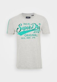 Superdry - PIPING ENTRY TEE - T-shirts med print - grey - 3