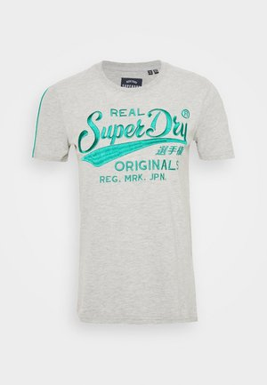 PIPING ENTRY TEE - Print T-shirt - grey