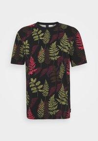 CREWNECK TEE - Print T-shirt - dark blue/green/red