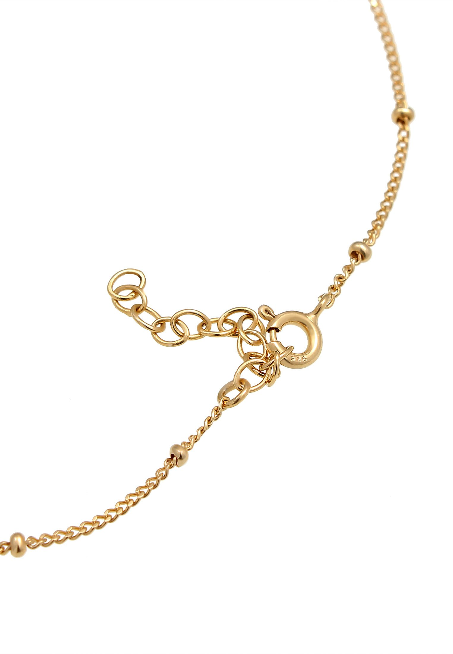 Elli Fussschmuck Kauri Muschel Kugel - Armband Gold