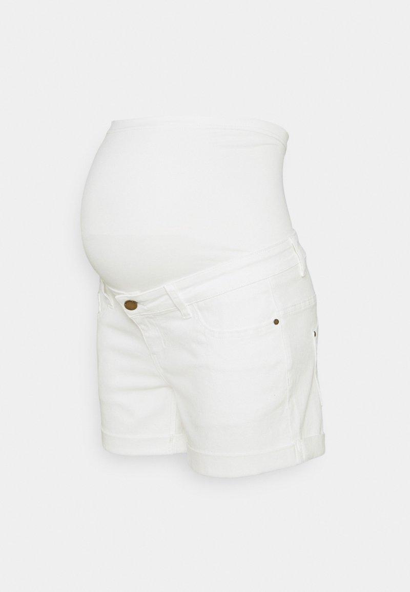 Forever Fit - ROLL UP - Denim shorts - ecru
