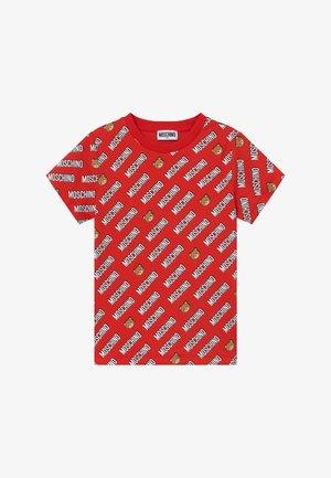 T-Shirt print - poppy red