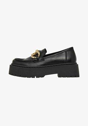 BIADEB CHAIN LOAFER - Slippers - black