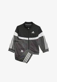 adidas Performance - CHÁNDAL SHINY BADGE OF SPORT  - Chándal - black - 0