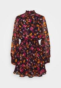 Gina Tricot - ALEXA TURTLNECK DRESS EXCLUSIVE - Day dress - black/rose - 0