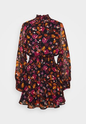 ALEXA TURTLNECK DRESS - Day dress - black/rose