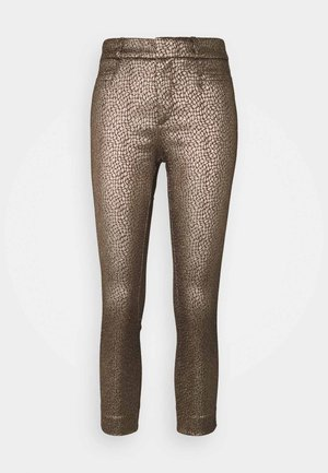 SLOAN MODERN DOT - Trousers - gold