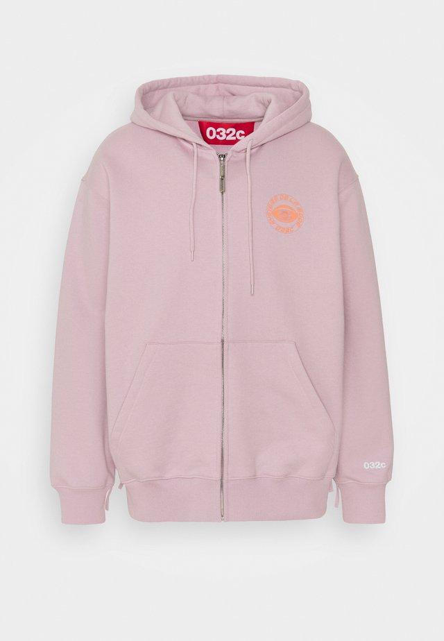 HYPNOS ZIP UP HOODIE - veste en sweat zippée - grey purple