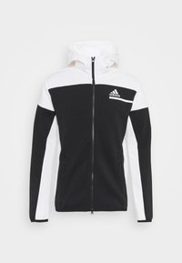 adidas Performance - HOODIE PRIMEGREEN HOODED TRACK TOP - Zip-up hoodie - black/white - 4