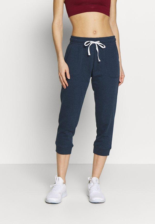 CROPPED GYM TRACKPANT - Pantalon 3/4 de sport - dark blue
