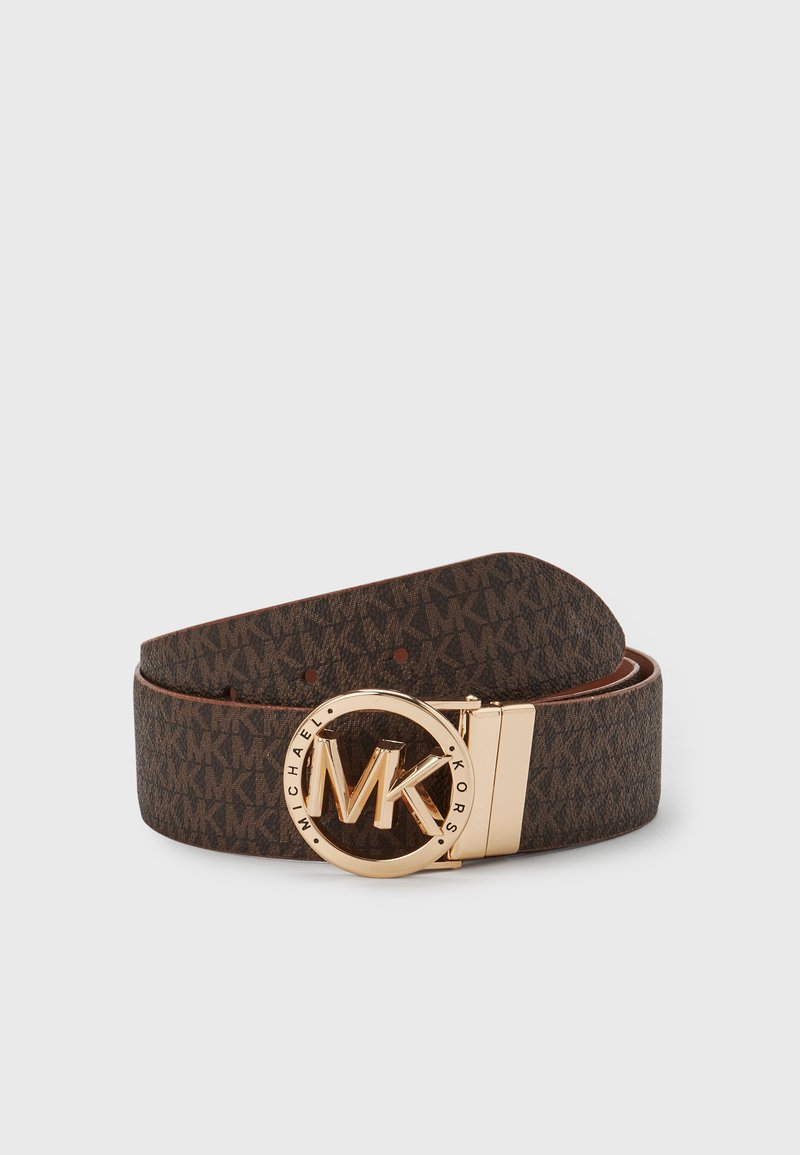 MICHAEL Michael Kors - REVERSIBLE BELT - Belt - brown/gold