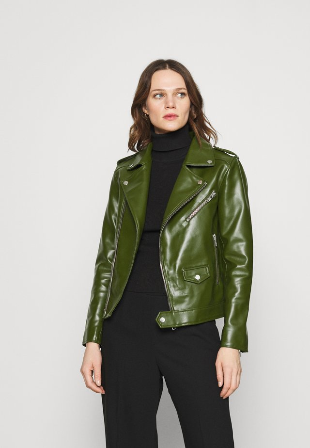 RIVER CACTUS - Faux leather jacket - green