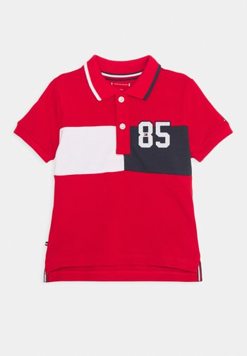 BABY COLORBLOCK UNISEX - Polo shirt - deep crimson
