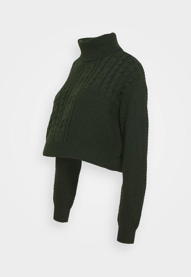 PCMSUMMER CROPPED  ROLL NECK - Jumper - duffel bag