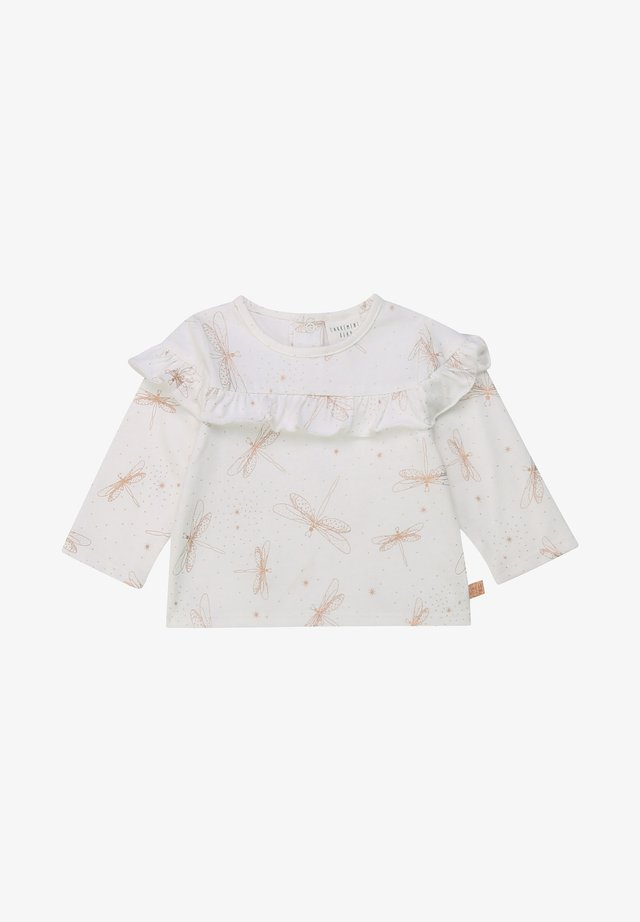 FRILLED - T-shirt à manches longues - offwhite