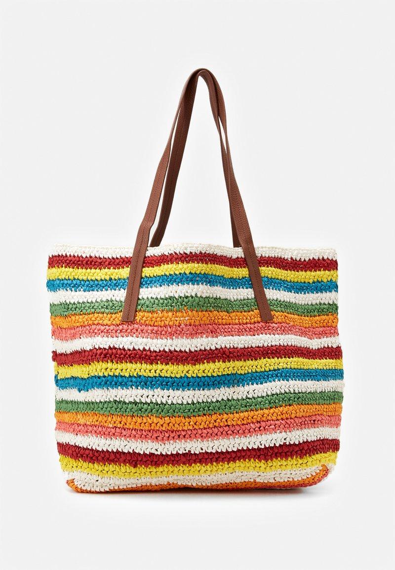 J.CREW - RAINBOW STRIPE MARKET TOTE - Shopping bag - multicoloured