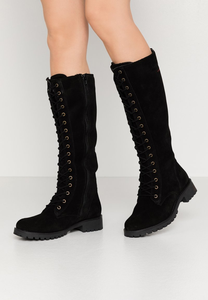 s.Oliver - BOOTS - Lace-up boots - black
