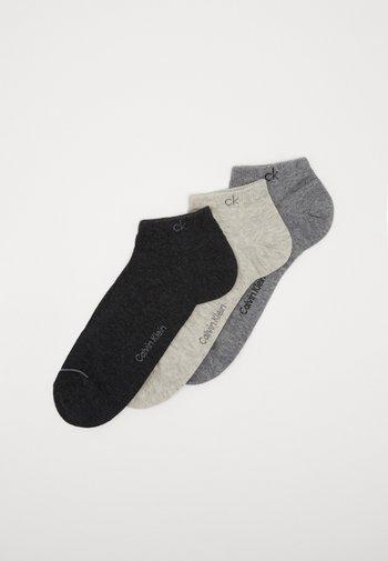 MEN LINER 3 PACK - Trainer socks - grey combo