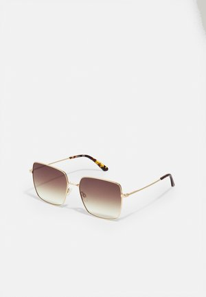 Sunglasses - shiny gold-coloured