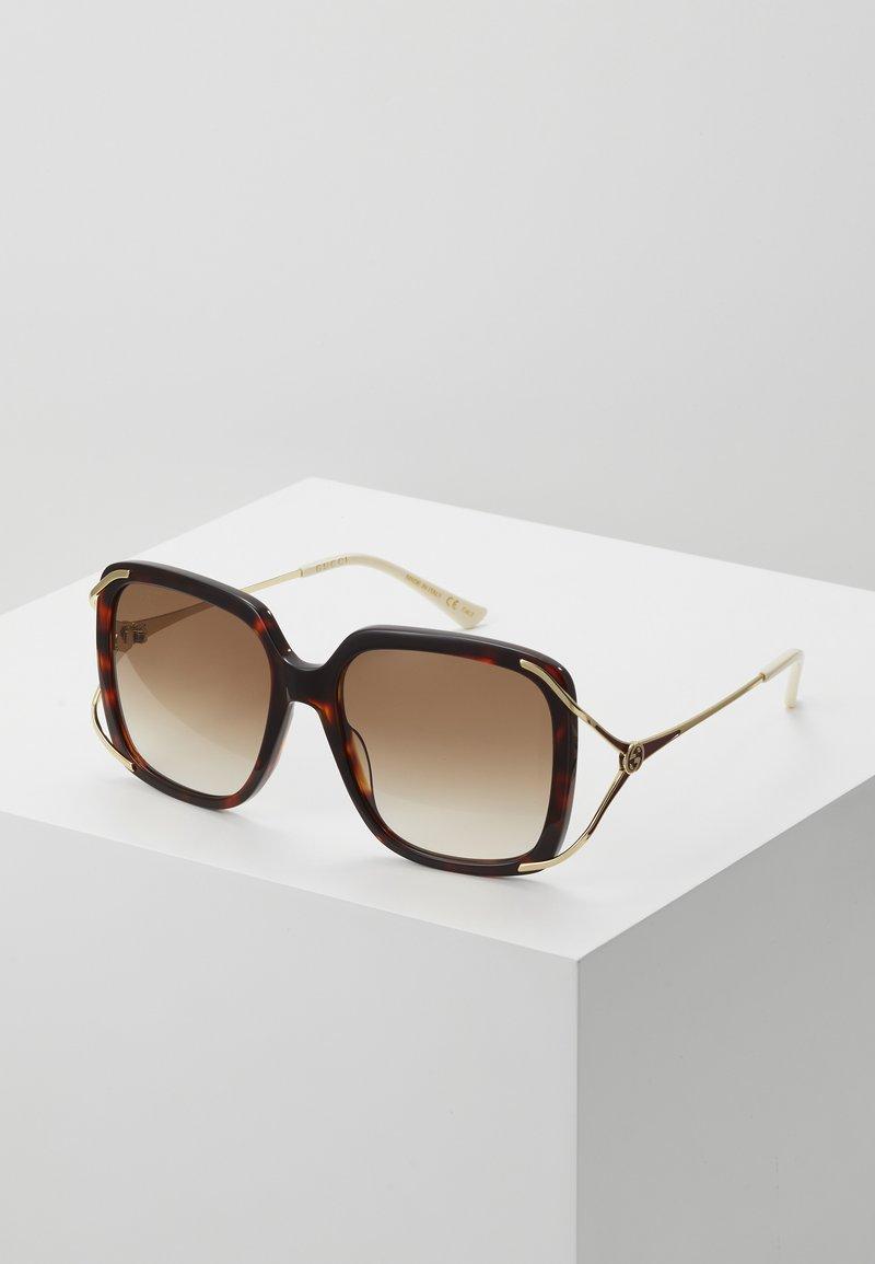 Gucci - Sunglasses - havana/gold-coloured/brown