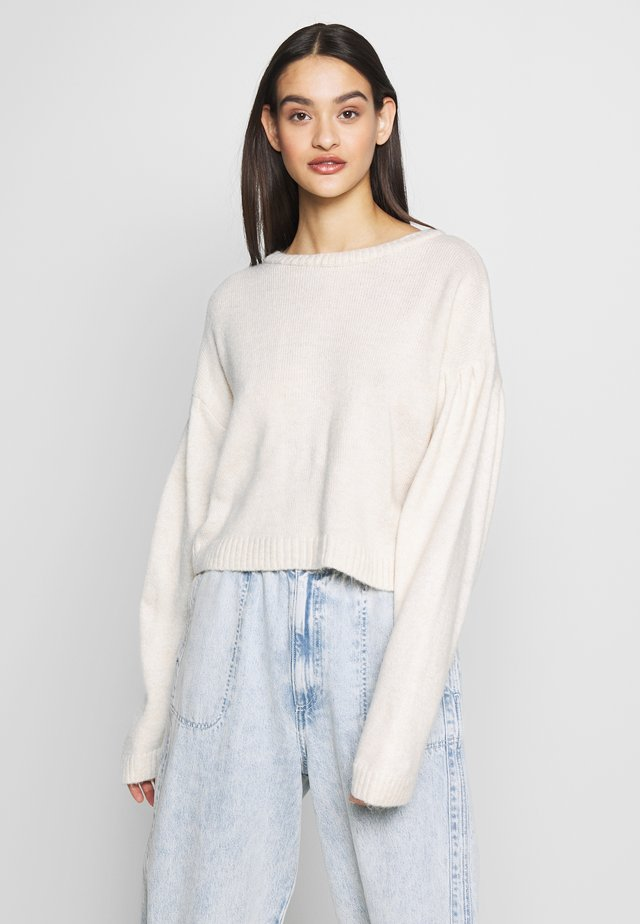 PLEAT SHOULDER - Pullover - nude