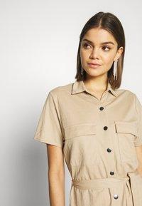 Vila - Košilové šaty - beige - 3