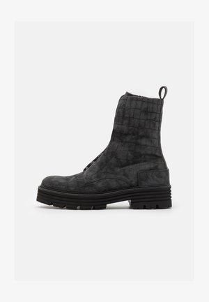 ELA - Platform ankle boots - basalt
