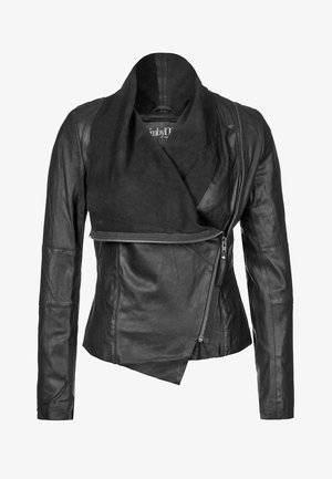 VALENTINE - Leather jacket - black