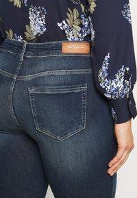 ONLY Carmakoma - CARWILLY - Jeans Skinny Fit - dark blue denim - 5